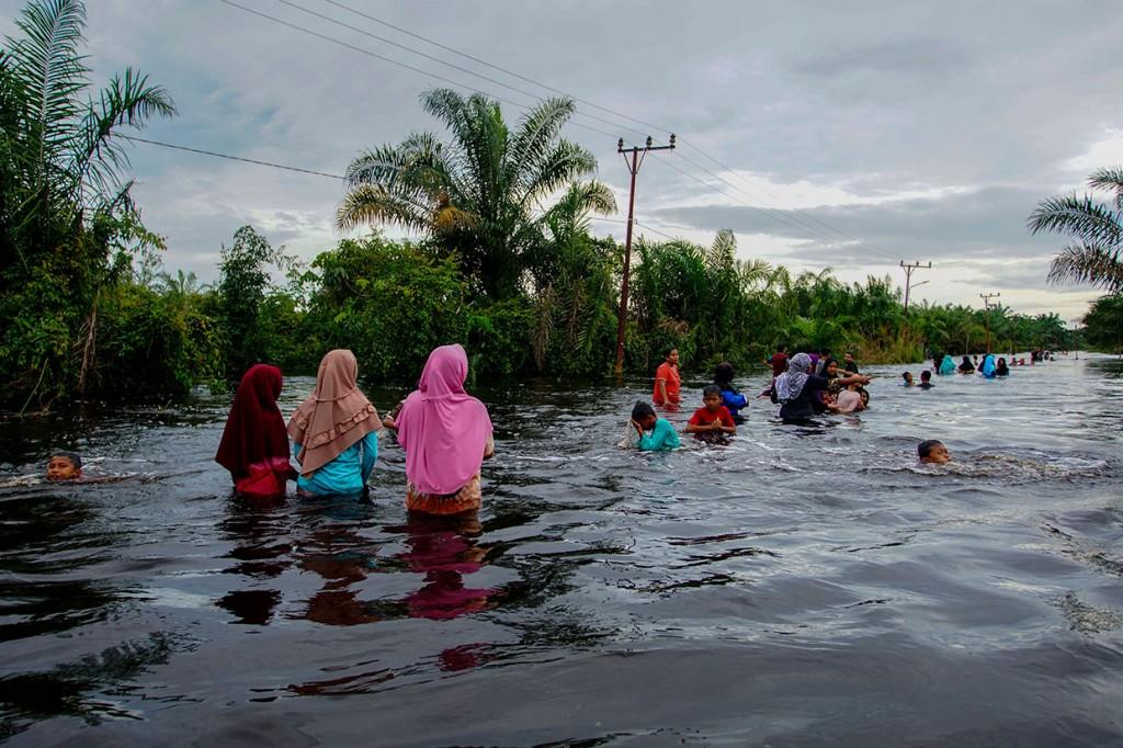 Banjir Setinggi 1,5 Meter Rendam Ribuan Rumah di Kampar Riau