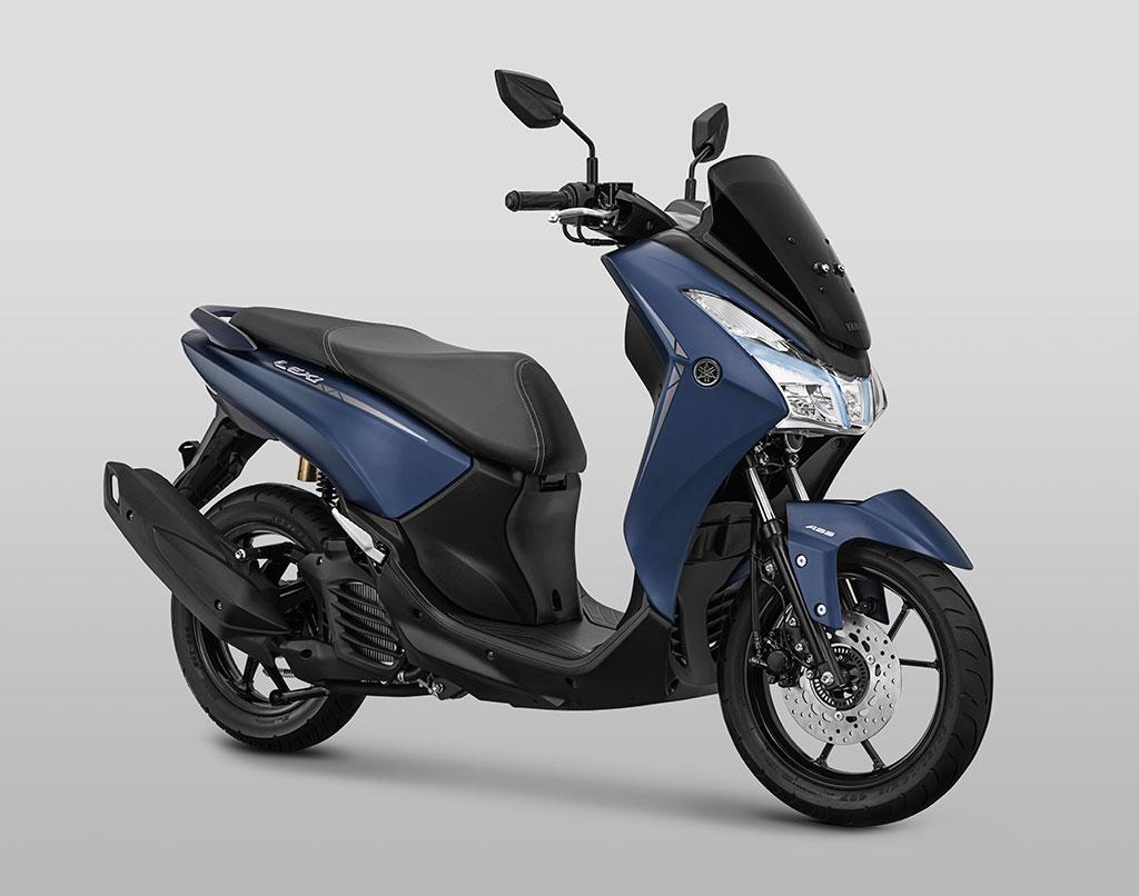 Lexi S ABS dipasarkan dengan warna Matte Blue. Yamaha
