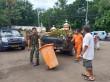 TNI dan Polri Gotong Royong Memperbaiki Polsek Ciracas