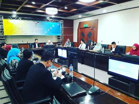 Suasana pertemuan Kemenpora RI dengan Kementerian Kebudayaan, Pemuda dan Olah Raga Brunei Darussalam.