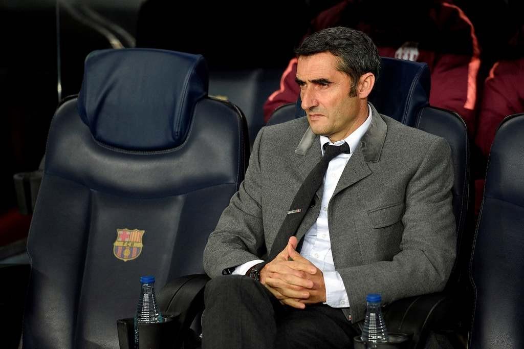 Pelatih Barcelona, Ernesto Valverde (AFP/Lluis Gene)