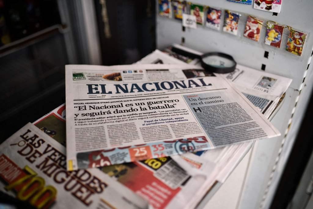 Surat kabar El Nacional berhenti terbit. (Foto: AFP)