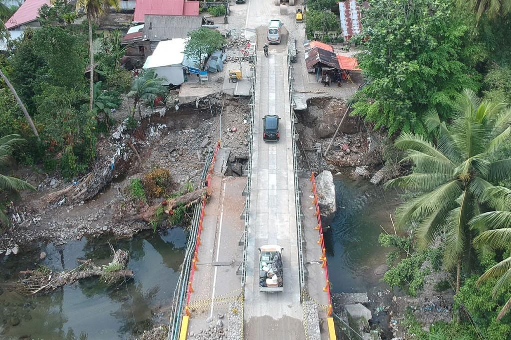 Jembatan Darurat Padang-Bukittinggi Sudah Bisa Dilewati