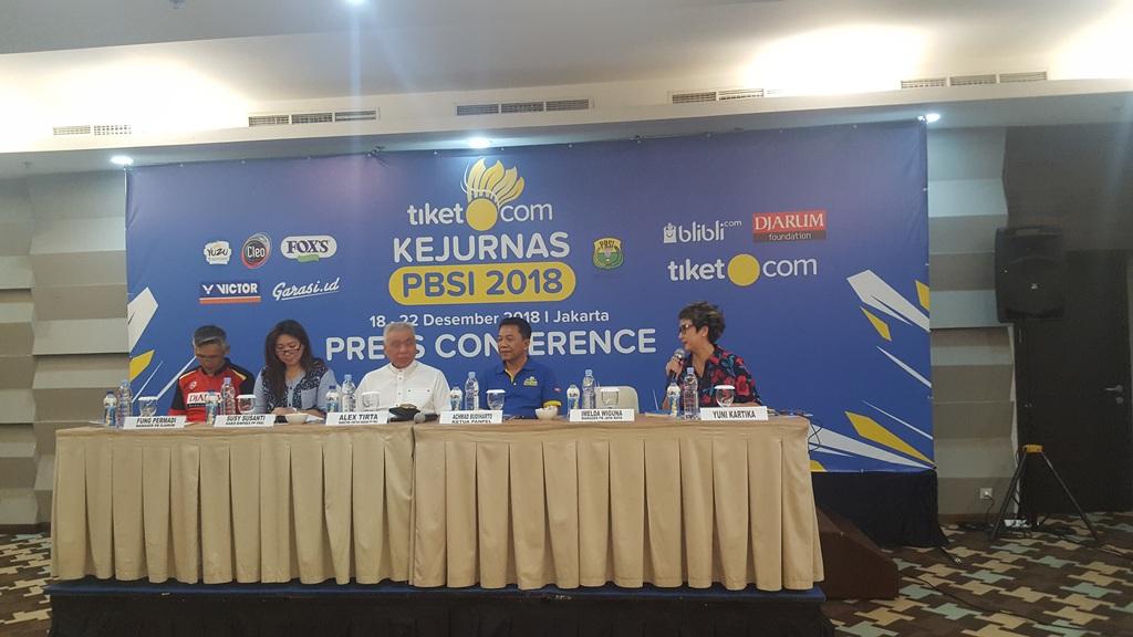 Konferensi Pers Tiket.com Kejurnas PBSI 2018 (Foto:Medcom.id/Gregorius)