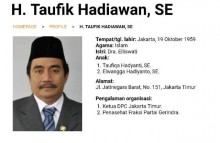 Penasihat Fraksi Gerindra DPRD DKI Meninggal