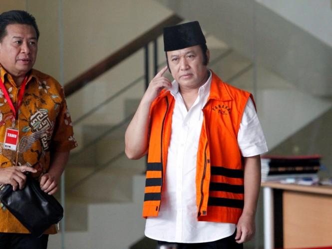 Bupati nonaktif Lampung Selatan Zainudin Hasan/MI/Rommy Pujianto