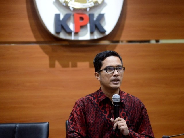 KPK spokesperson Febri Diansyah (Photo:MI/Rommy Pujianto)