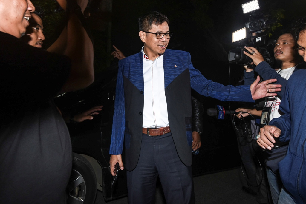 Anggota MPR sekaligus Sekretaris Partai Demokrat Hinca Pandjaitan. ANT/Hafidz Mubarak.