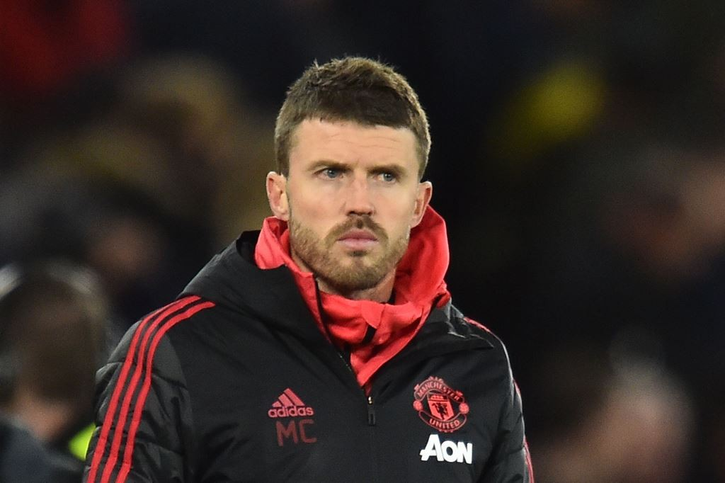 Pelatih tim utama Manchester United, Michael Carrick (AFP/Glyn Kirk)