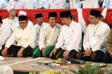 Rommy Sambut Jokowi di Pondok K.H. Wahab Hasbullah