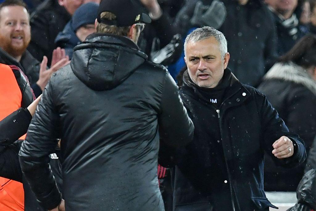 Juergen Klopp dan Jose Mourinho (AFP/PAUL ELLIS )