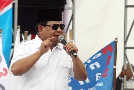 Capres nomor urut 02 Prabowo Subianto/MI/Susanto