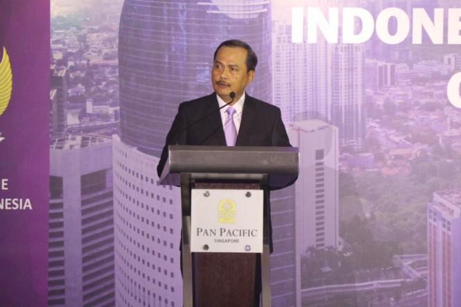 Dubes Ngurah Swajaya menlila Pengembangan kerja sama industri 4.0, Indonesia dan Singapura. (Foto: Dok KBRI Singapura0.