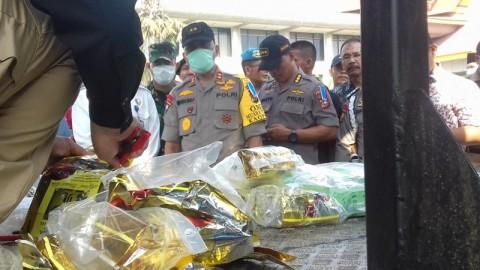 Polda Riau Musnahkan 29,58 Kg Sabu Asal Malaysia