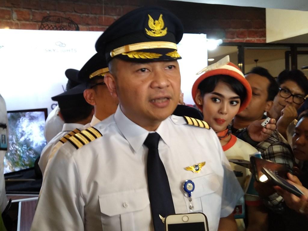 Direktur Utama Garuda Indonesia Askhara Danadiputra (Foto: Medcom.id/Ilham Wibowo)