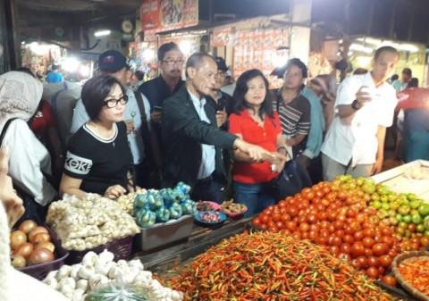 Kepala BKP Kementan Pantau Stok Pangan di Pasar Bersehati