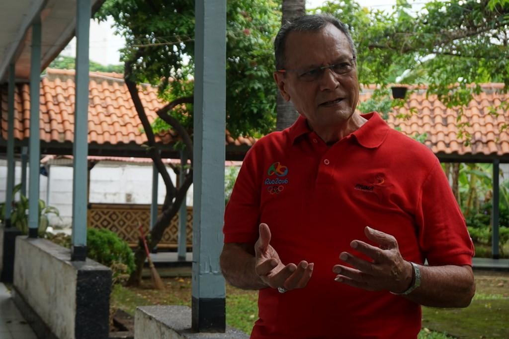 Wakil Ketua PB PABBSI Djoko Pramono di Mess Marinir, Jakarta. (Foto: Medcom.id/Zam)