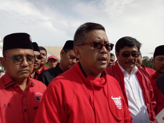 Sekretaris TKN Hasto Kristiyanto. Foto: Medcom.id/Siti Yona Hukmana.