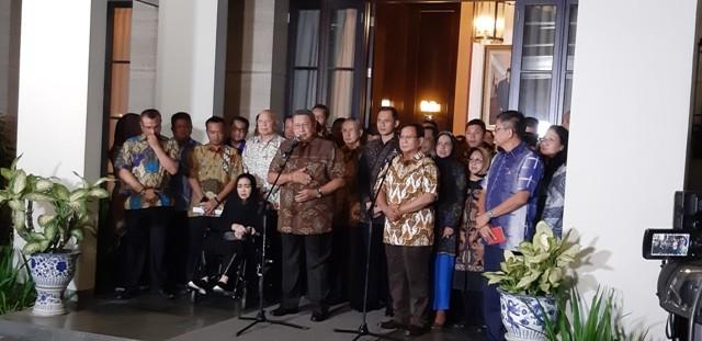 SBY-Prabowo usai membahas Pilpres 2019/Medcom.id/Whisnu Mardiansyah