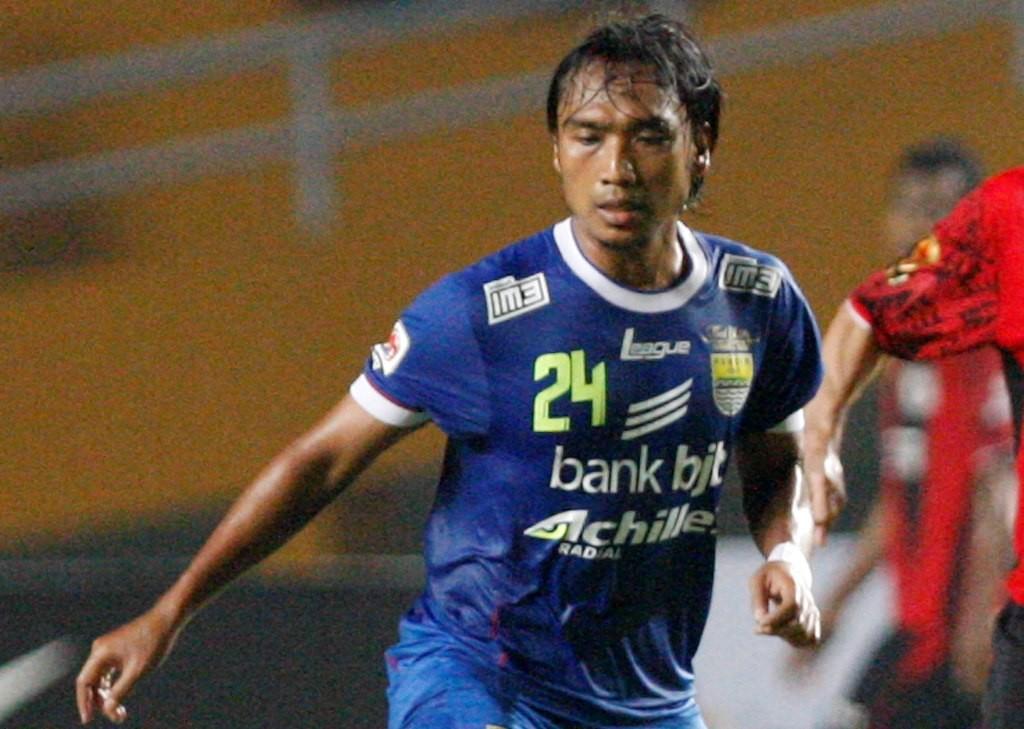 Hariono saat memperkuat Persib Bandung (Foto: MI/Rommy Pujianto)