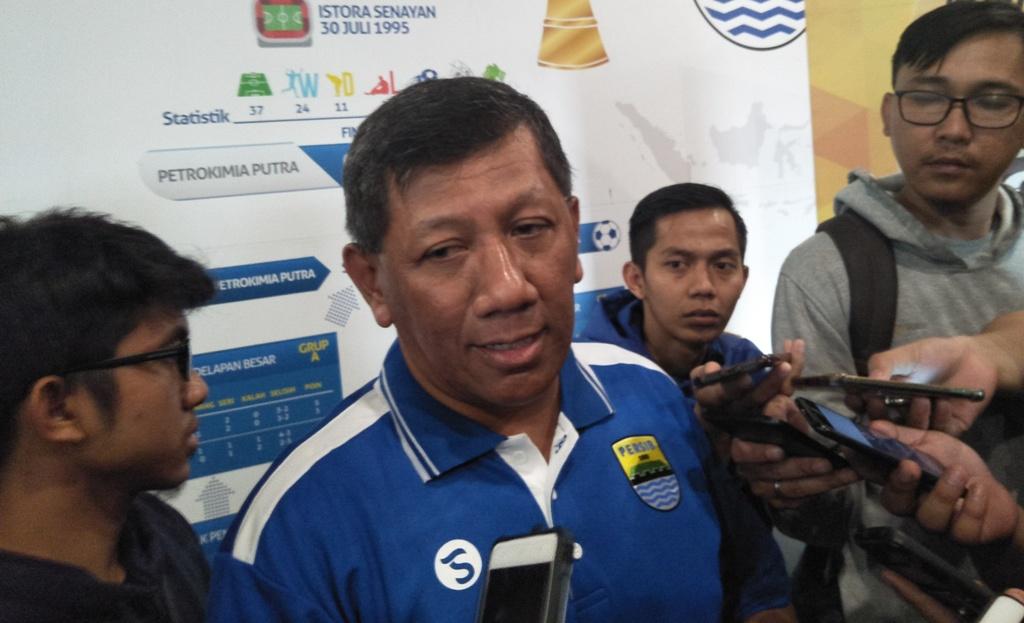 Komisaris PT PERSIB Bandung bermartabat Koeswara S Taryono (Koresponden Media Indonesia/Bayu Anggoro)