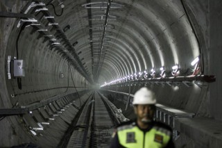 Simulasi Kebakaran Dilakukan di Stasiun MRT Bawah Tanah