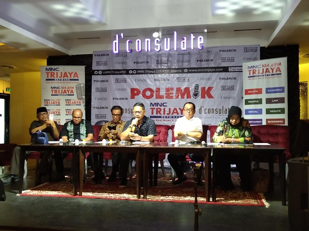 Suasana diskusi di D' Consulate Cafe, Jakarta (Foto: Medcom.id/Ilham Wibowo)