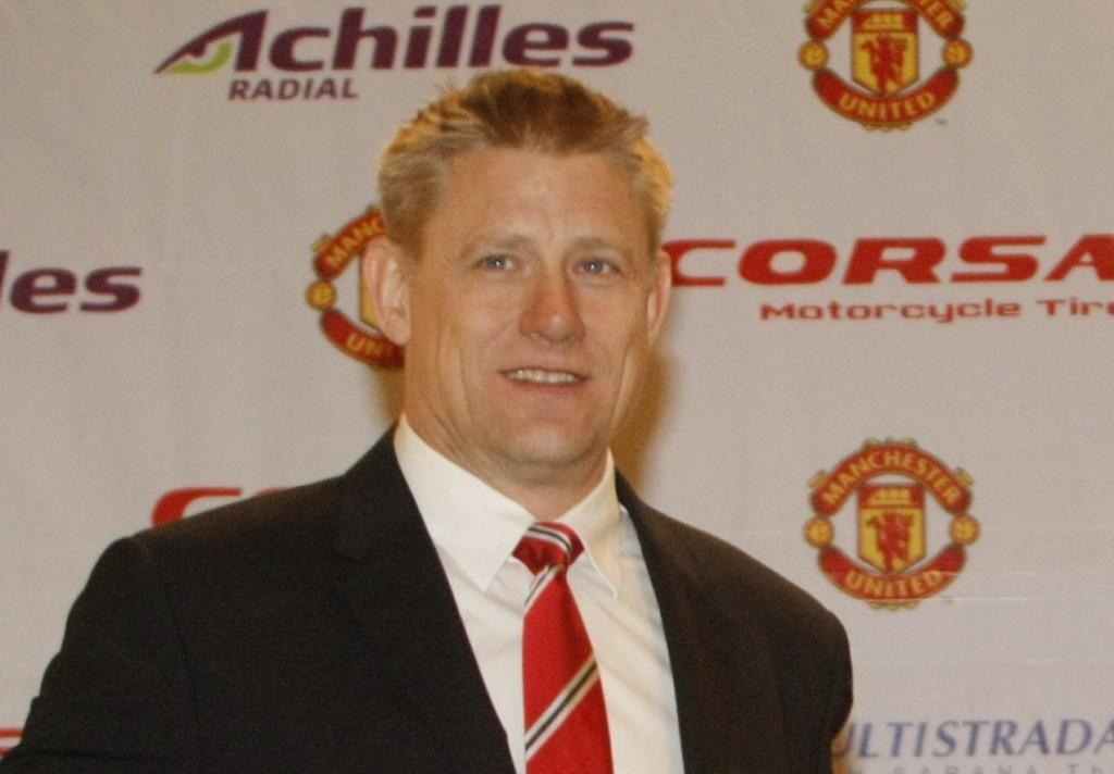 Mantan kiper Manchester United, Peter Schmeichel. (ROMMY PUJIANTO/MI)
