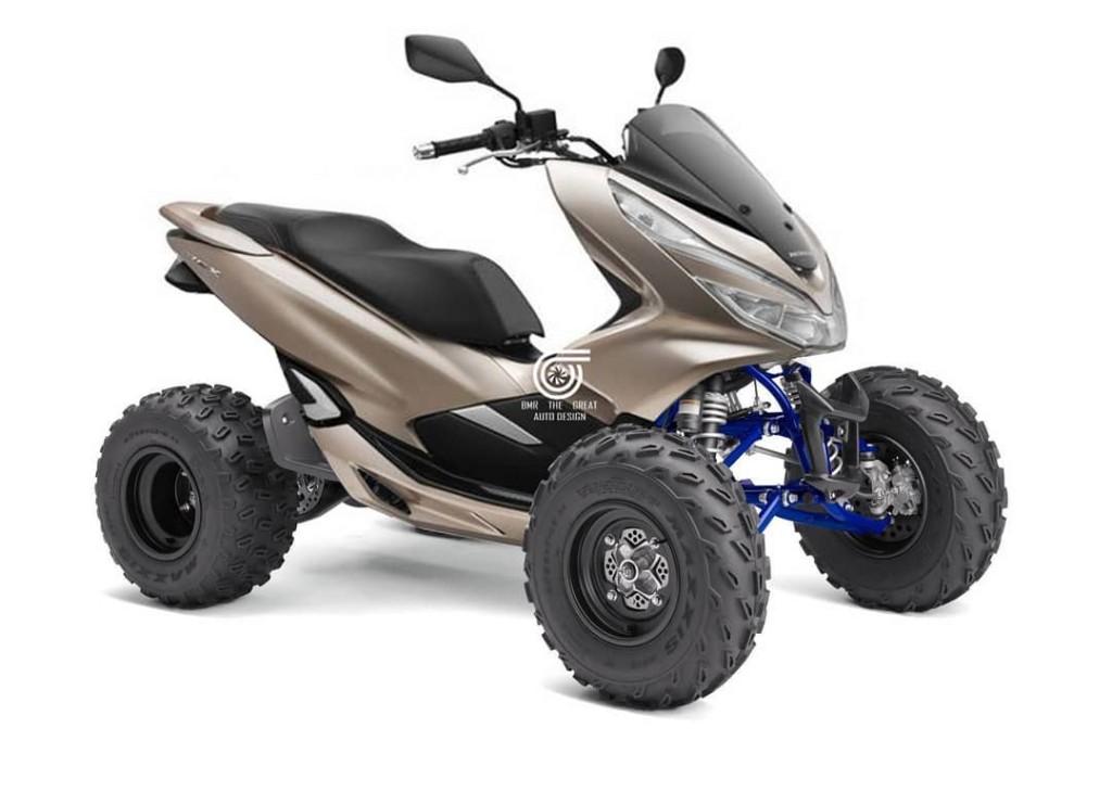 ATV dengan basis Honda PCX hasil olah digital dari Bintang Maulana Ramadhan. Instagram/bmrtg_auto_design
