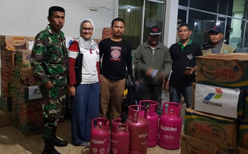 Pertamina Salurkan Bantuan LPG dan Logistik ke Korban Tsunami. (FOTO: dok Pertamina)