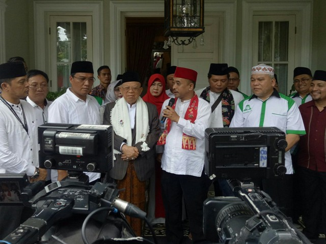 Perwakilan masyarakat Betawi di kediaman Ma'ruf/Medcom.id/Arga Sumantri