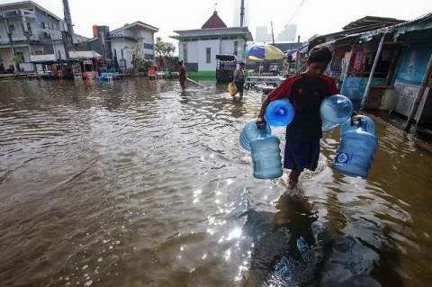 Satu RT di Penjaringan Terendam Banjir Rob