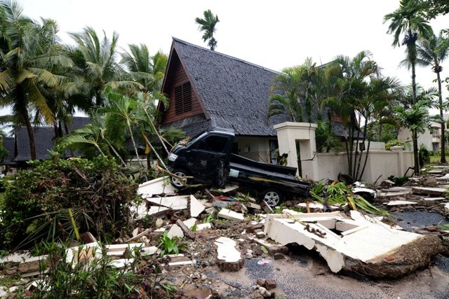Salah satu lokasi terdampak tsunami di Selat Sunda/MI/Susanto