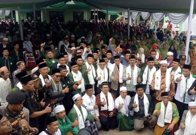Cawapres nomor urut 01 Ma'ruf Amin di Bogor/Medcom.id/Arga Sumantri