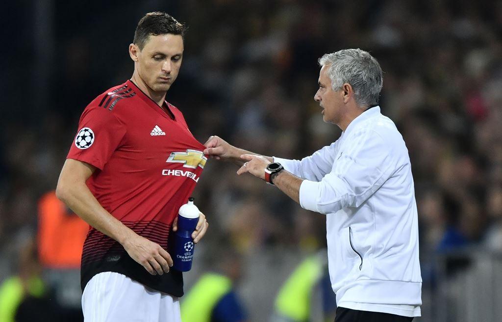 Nemanja Matic merasa pemain Manchester United bertanggung jawab atas dipecatnya Jose Mourinho (AFP/Fabrice Coffrini)