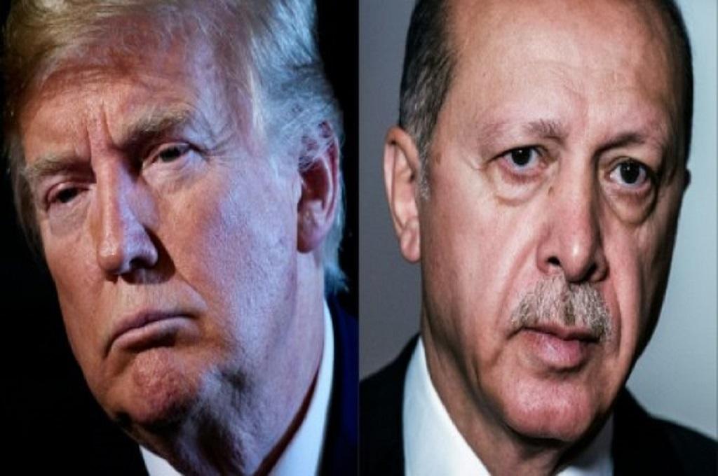 Presiden AS Donald Trump (kiri) dan Presiden Turki Recep Tayyip Erdogan. (Foto: AFP)