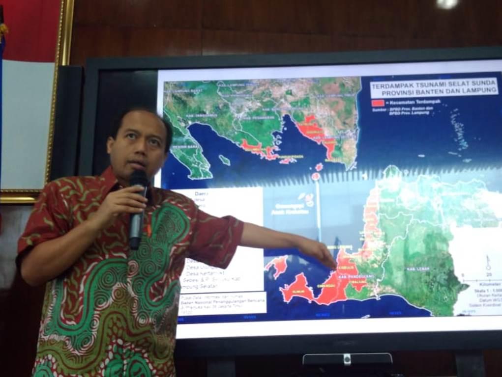 Kepala Pusat Data Informasi dan Humas BNPB Sutopo Purwo Nugroho. Foto: Medcom.id/Ilham Pratama Putra.