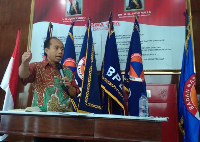 Kepala Pusat Data Informasi dan Humas BNPB, Sutopo Purwo Nugroho--Medcom.id/Candra Yuri Nuralam.