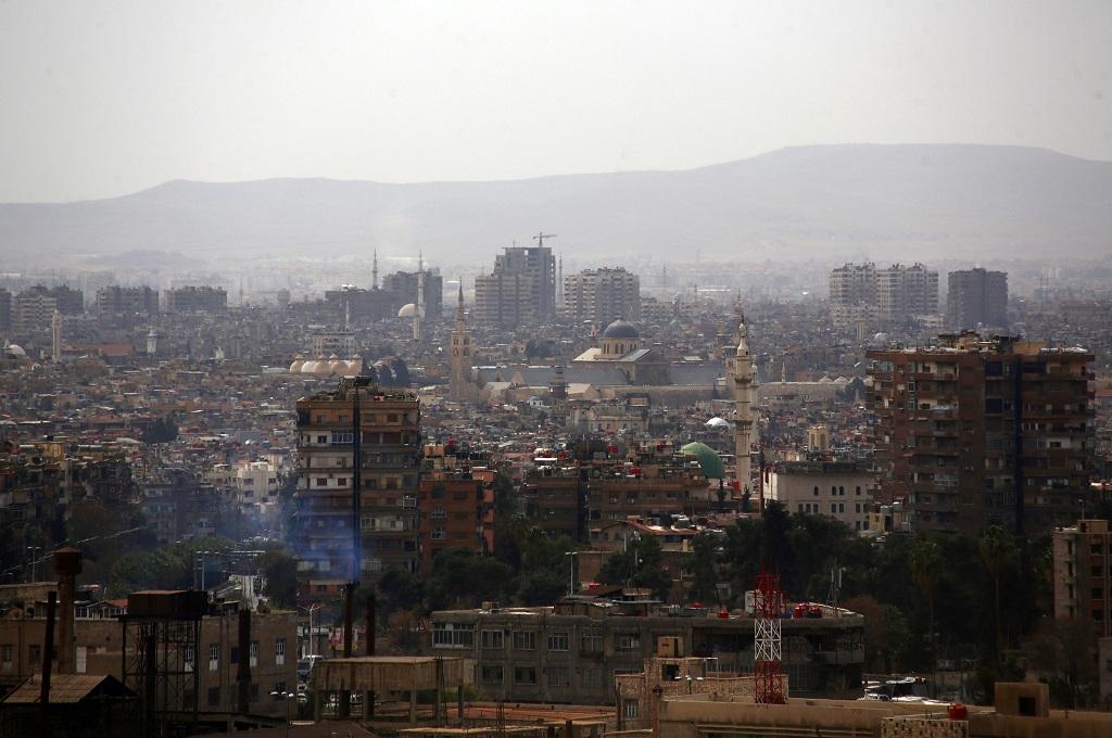 Pemandangan umum Damaskus di Suriah. (Foto: AFP)