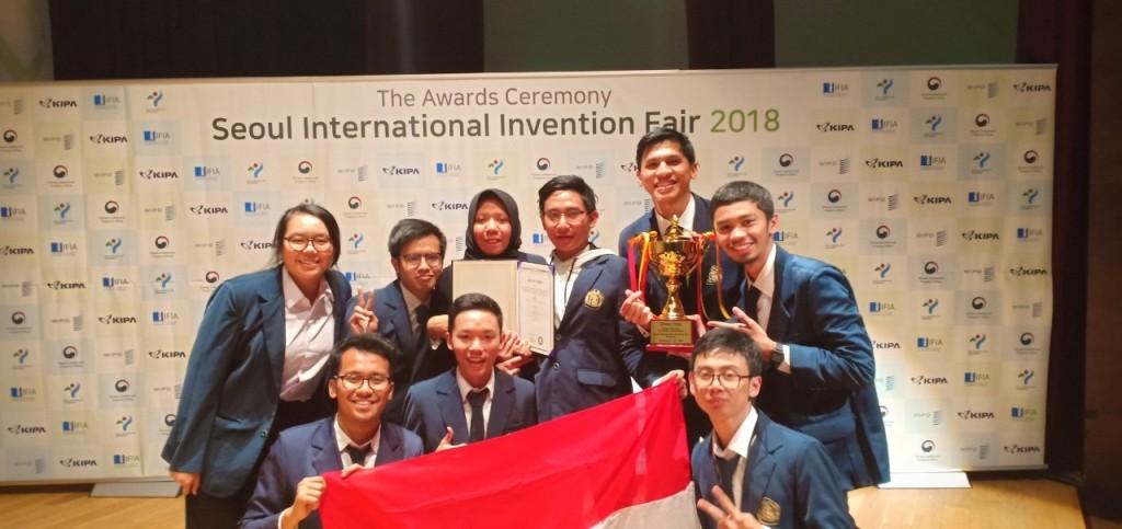 Tim UB di ajang Seoul International Invention Fair – SIIF 2018. Foto: Istimewa.