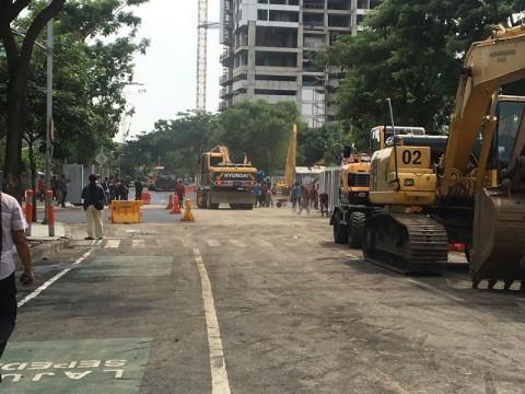 Pengaspalan Jalan Gubeng Ditarget Selesai Hari ini