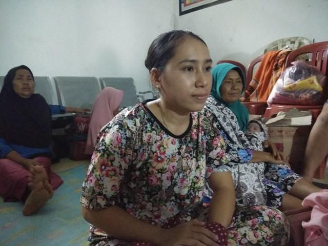 Sanamah, pengungsi asal Kampung Caah,/Medcom.id/Fachri Audhia Hafiez