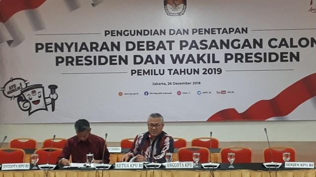 Penetapan penyiaran debat Pilpres 2019 di KPU/Medcom.id/Faisal Abdala