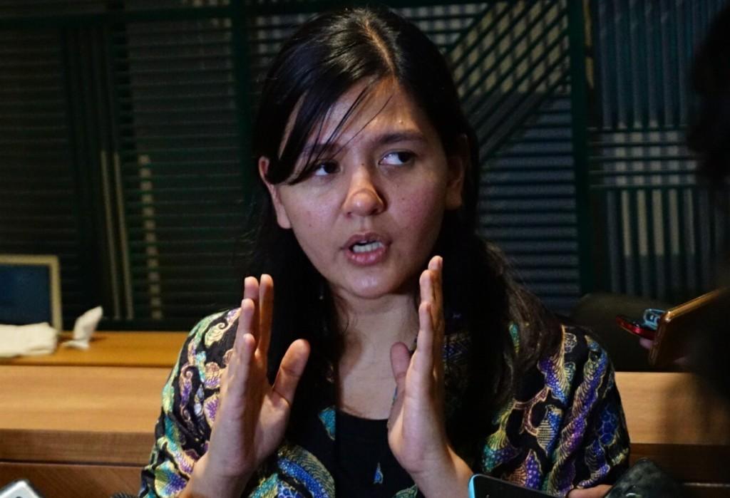 Sekjen PSSI Ratu Tisha Destria (Foto: medcom.id/Kautsar Halim)