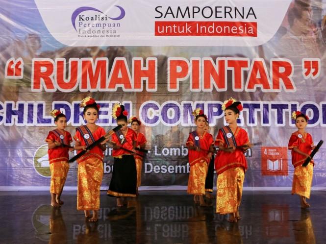Kompetisi Anak yang digelar di Bencingah, Lombok Tengah. Foto: dokumen istimewa