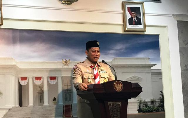 Ketua Kwarnas Pramuka Budi Waseso. Foto: Medcom.id/Fikar.