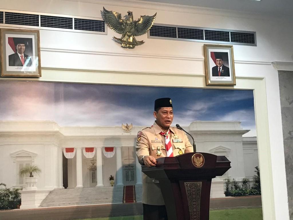 Ketua Kwarnas Gerakan Pramuka Budi Waseso. Foto: Medcom.id/Achmad Zulfikar Fazli.