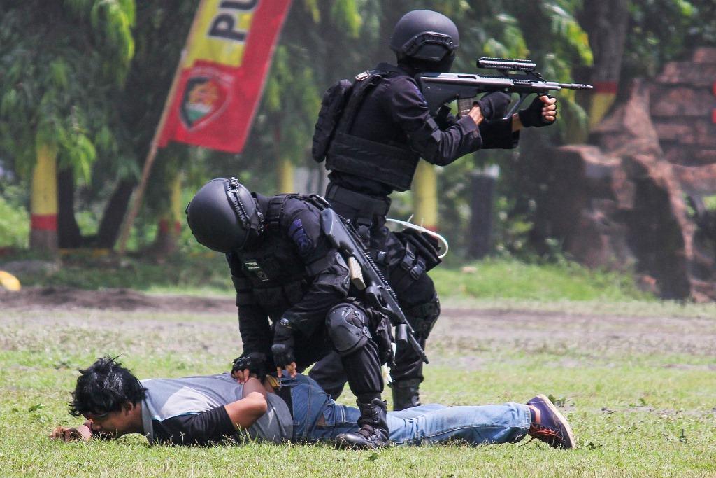 Ilustrasi penangkapan teroris. Foto: Antara/M Asim