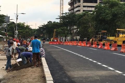 Jalan Gubeng Masih Belum Bisa Dilintasi