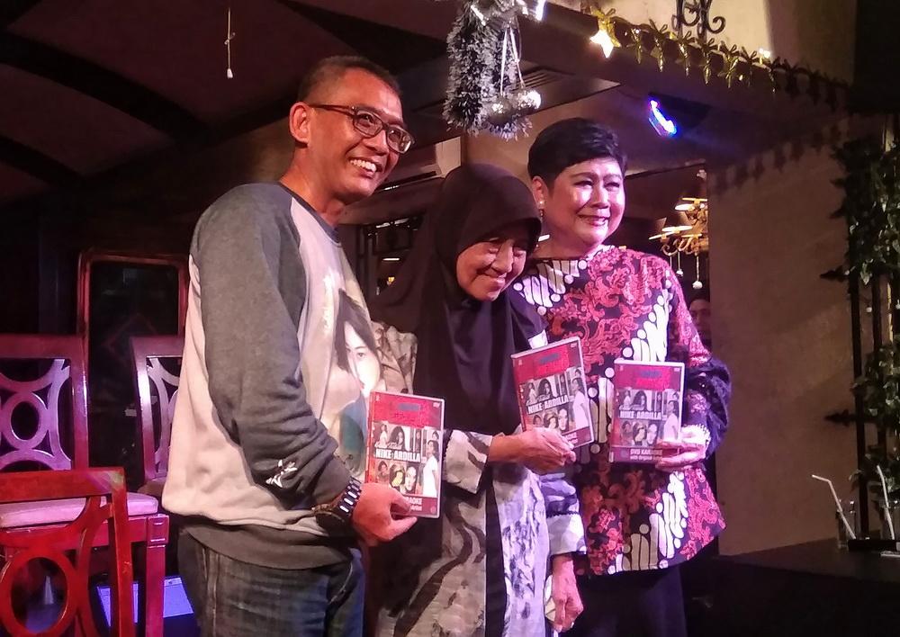 Jumpa pers perilisan DVD Karaoke Nike Ardilla di Pisa Kafe, Menteng, Jakarta Pusat, Kamis 27 Desember 2018. (Foto: Medcom.id/Cecylia Rura)